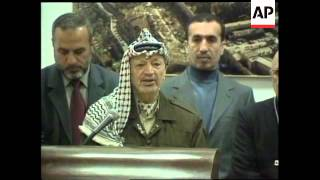 Press conference by Palestinian leader