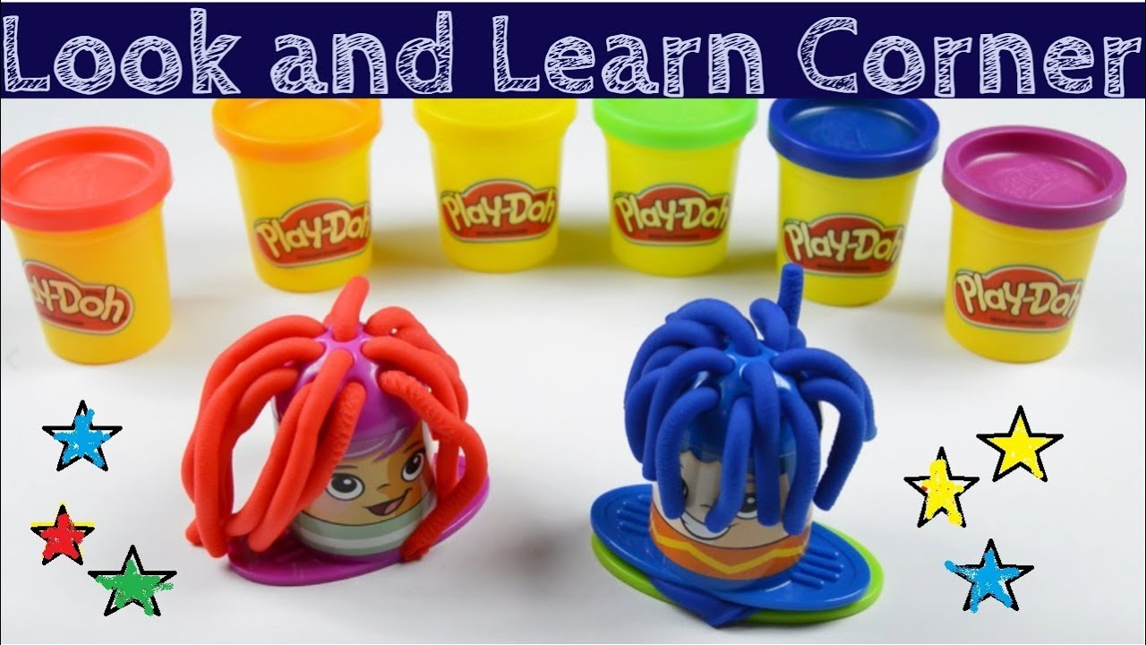 Learn Colors And Numbers With Play Doh Crazy Cuts Haircut Rainbow