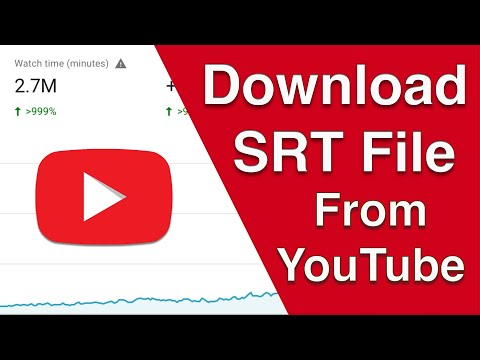 How to Download Subtitle from YouTube? (Download SRT File from YouTube Videos)
