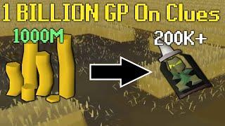 I Spent 1 BILLION GP on Clue Scrolls