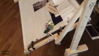 Видео-обзор станка для вышивания. Моя покупка. Станок настольный Руфия. Серега-мастер. Мир вышивки.