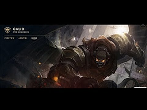 Commando Galio Skin Spotlight ( Champion Rework ) Update 2017 - League Of Legends