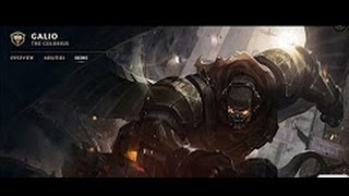 Commando Galio Skin Spotlight ( Champion Rework ) Update 2017 - League Of Legends