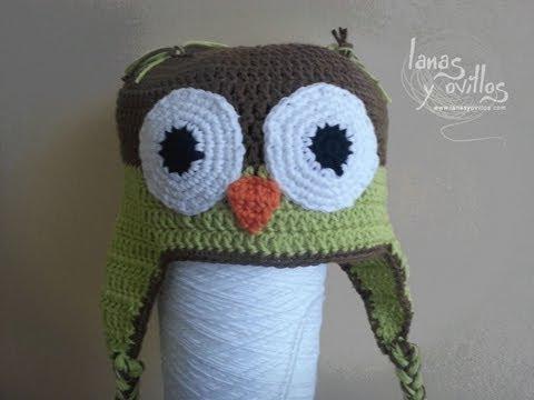 Tutorial Gorro Búho Crochet o Ganchillo Paso a Paso