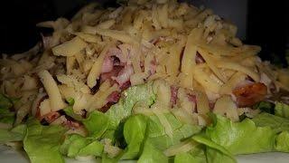 Салат из копчёной курицы с шампиньонами!!!####Salad of smoked chicken with mushrooms!!!