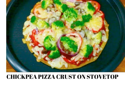 Gluten-free Chickpea Crust Pizza on Stovetop | Healthy Vegan Gluten-free Pizza | Curry for the Soul