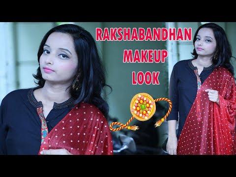 रक्षाबंधन-का-आसान-मेकअप-|-how-to-do-easy-rakshabandhan-makeup-|-honey's-beauty-&-health