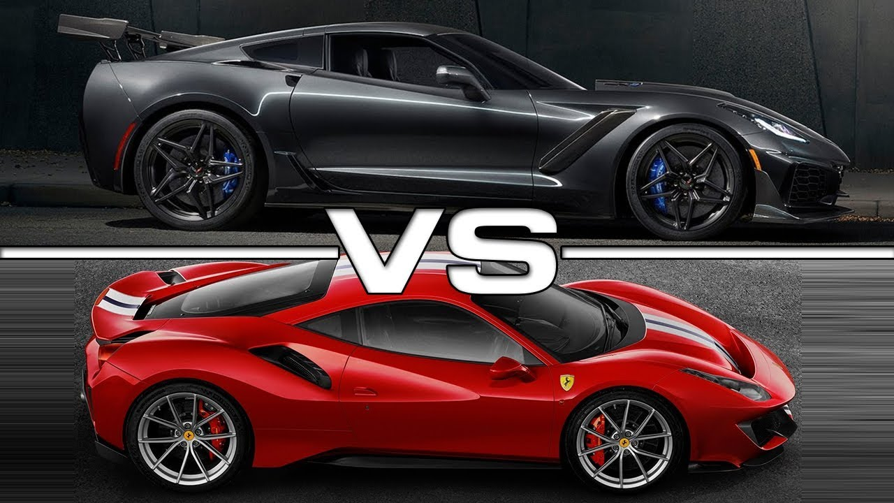 2019 Chevrolet Corvette Zr1 Vs 2019 Ferrari 488 Pista Techical Specifications Youtube