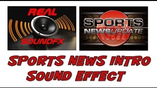 Sports news intro sound effect - realsoundFX