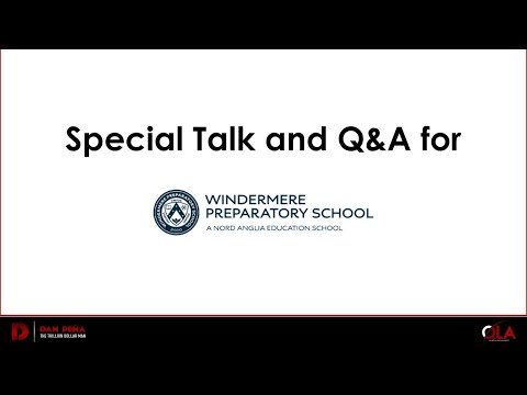 Special Talk and Q&A for Windermere Preparatory School