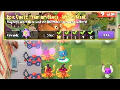 Plants vs. Zombies 2 - Epic Quest: Premium Seeds - Witch Hazel (S1 to S5)