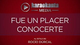 Karaokanta - Rocío Dúrcal - Fue un placer conocerte