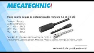 Piges pour le calage de distribution des moteurs 1.5 et 1.9 DCi - TA00037 - TA00057 mecatechnic