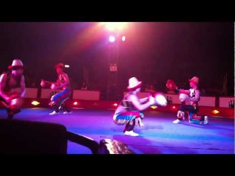 Chinese men dancing : The sensational circus of the orient in manchester 28/02/2012 gymnastics