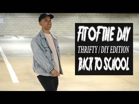 Fit of the day | DIY/ THRIFTY EDITION | BACK TO SCHOOL INSPIRATION