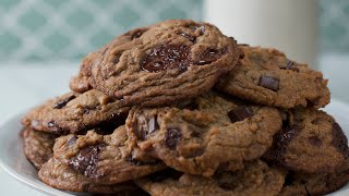 Vegan Browned Butter Chocolate Chip Cookies And Vanilla Cashew Milk