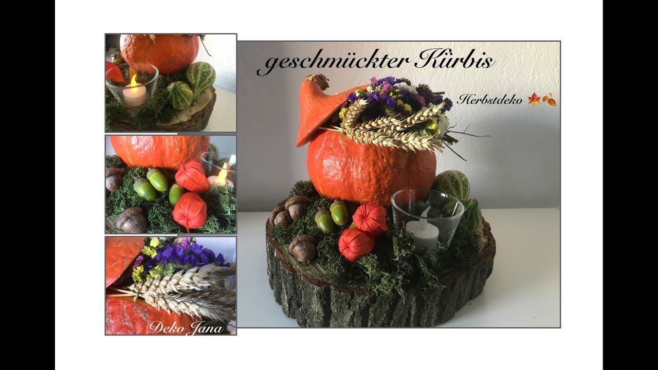 Diy Herbstdeko Kurbis Herbstlich In Szene Gesetzt Blumendeko