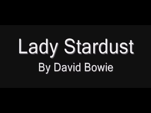 """Lady Stardust"" by David Bowie (Piano Sheet Music Video)"