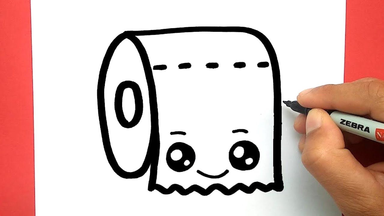 how to draw a cute Tissue very easy, draw cute things ...
