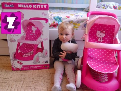 SMOBY HELLO KITTY Unboxing baby doll stroller РАСПАКОВКА Смоби Хелло Китти