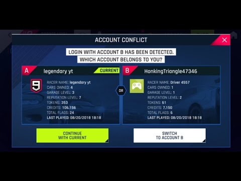 How to play 2 or more accounts in asphalt 9 legends in one device