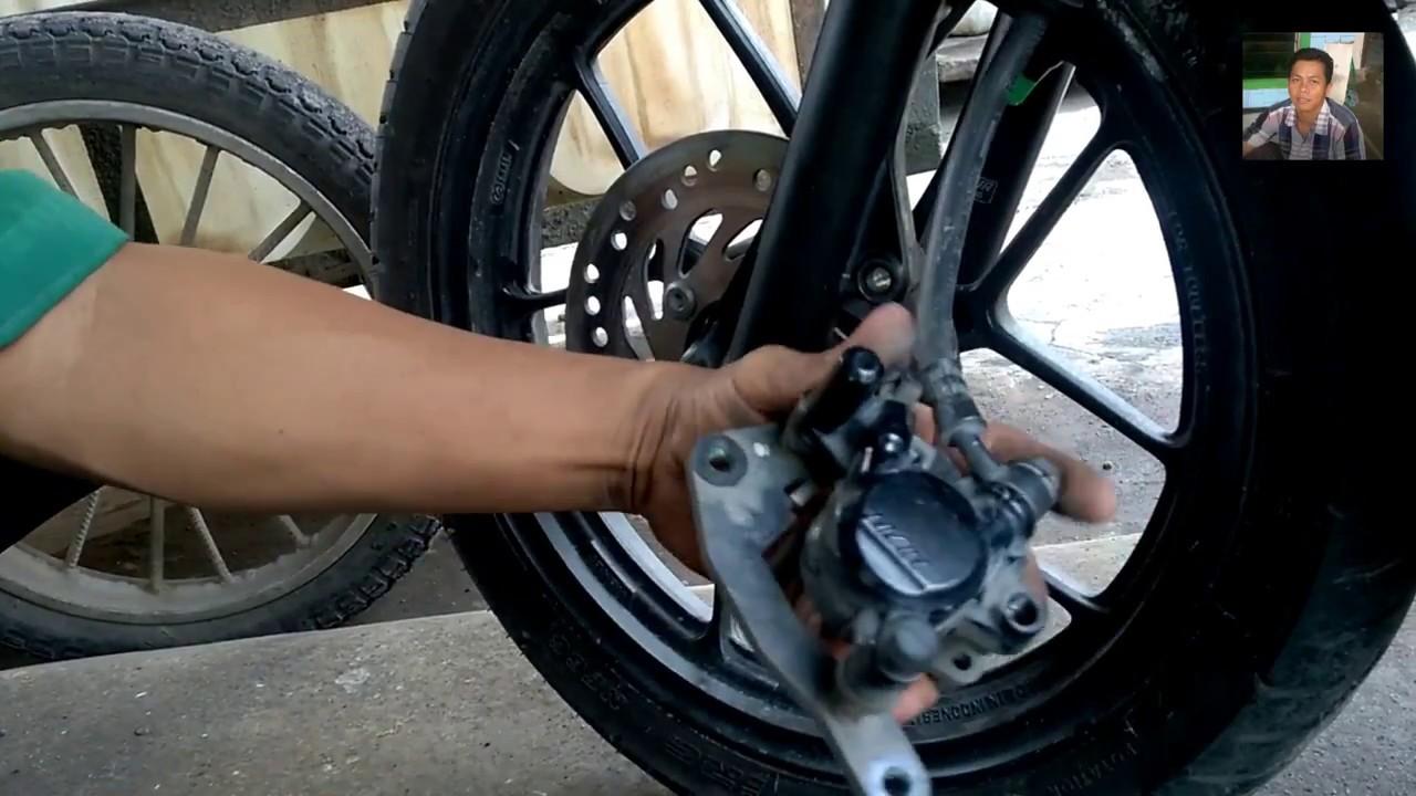 cara mengatasi rem cakram motor seret - cara memperbaiki rem