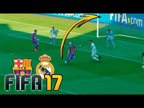 Real Madrid vs Barcelona | FIFA 17 - Santiago Bernabéu