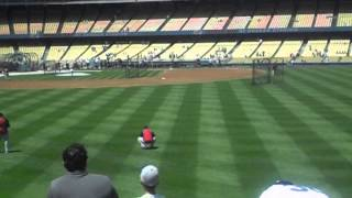 Dodger game on 7/28/13 against the Reds at Dodger Stadium listening R.I.P Young Jeezy