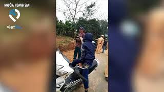 Quảng Bình:Quốc lộ đang thi công nhóm CSGT vẫn ngang nhiên lập chốt bắt lỗi lấn vạch