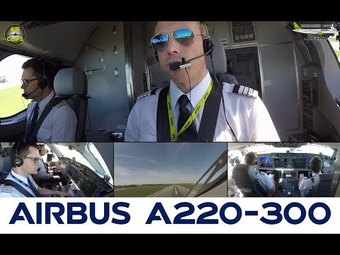 Air Baltic CS300: Technical Pilot Erlend lifts off his beauty silently from Riga! [AirClips]