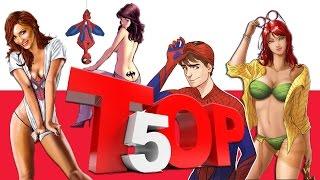 Top 5 Sexiest Girlfriends of Superheros in Marvel and Dc Comics