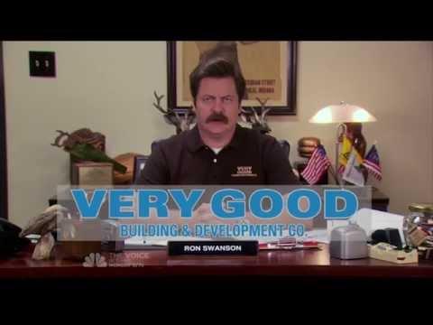Parks & Recreation S07E10: Ron Swanson's Very Good Building & Development Company commercial