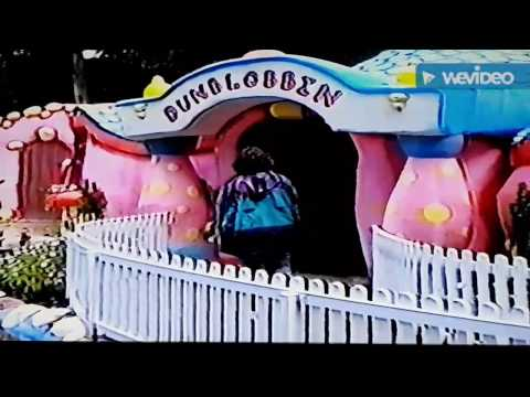 Blobby Land Crinkley Bottom Mr Blobby's Theme Park, Cricket St Thomas 1994. Noel Edmond's Dunblobbin