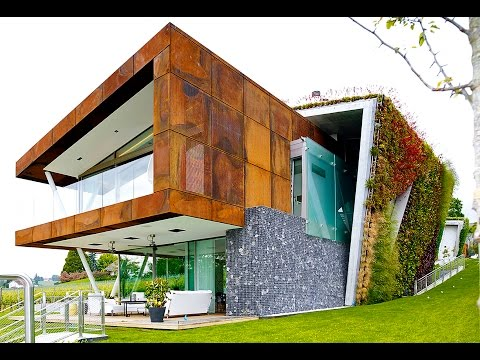 Jewel Box Villa takes energy-efficient green homes to a hip new level in Switzerland