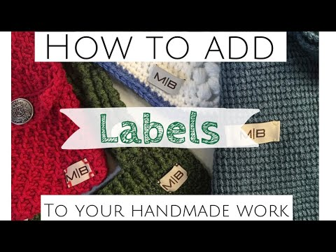 Labels! How To Attach Them, And Where I Order Mine From.