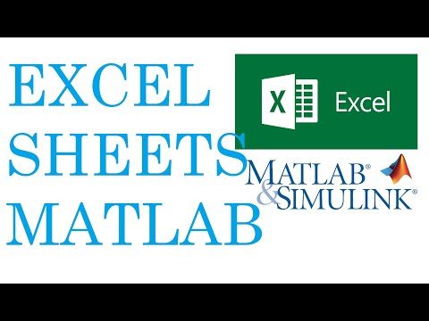How to work with excel sheet in Matlab