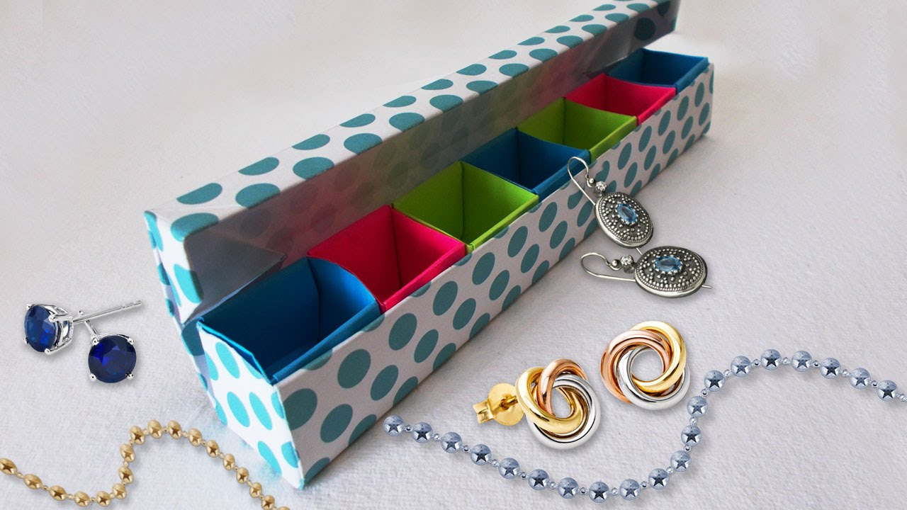 diy paper crafts origami jewelery box tutorial cool diy projects