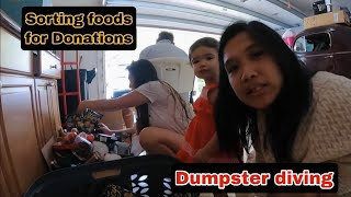 DUMPSTER DIVING HAUL FOODS AND CLOTHING DONATIONS