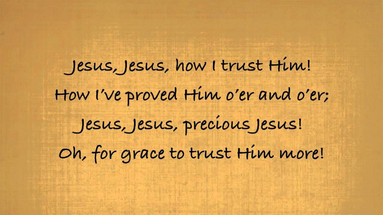 Tis So Sweet To Trust In Jesus Piano With Lyrics Chords Chordify