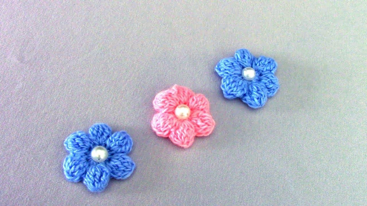 Объемные цветы крючком для начинающих