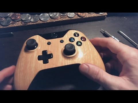 Xbox One Controller Dissasembly + Wood Grain Faceplate