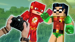 Realistic minecraft: The Flash and Steve Star in a MOVIE