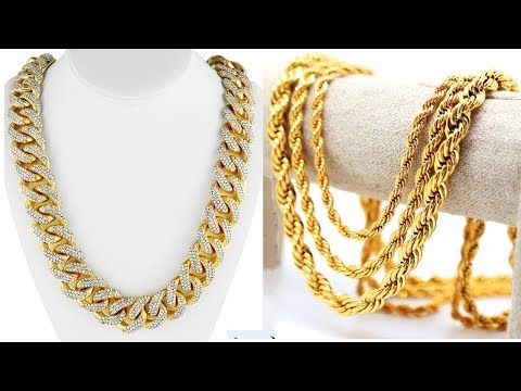BEST & LATEST GOLD CHAIN DESIGNS for MEN | Gold Jewellery Designs | Mens Gold Chain Designs