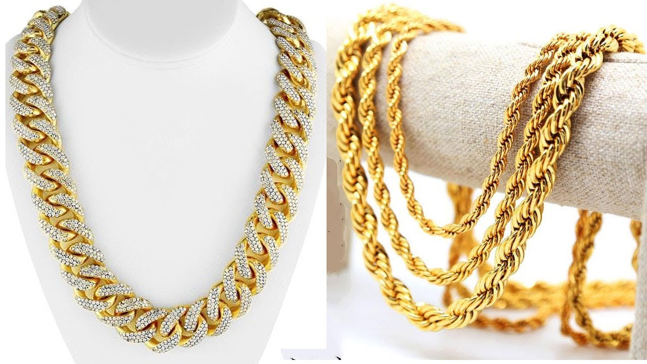 BEST LATEST GOLD CHAIN DESIGNS for MEN Gold Jewellery Designs