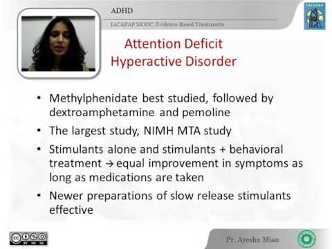 IACAPAP MOOC: 18. Treatments in C&A psychiatry (Ayesha Mian, Pakistan)