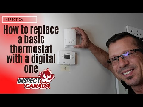 How to install replace an old thermostat to a digital thermostat