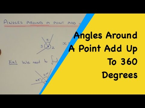 How To Use Angles Around A Point Add Up To 360 Degrees (Around A Circle)