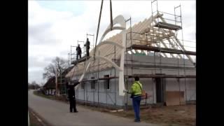 Blitzmontage Gaubenrahmen und Kehlbohlenanlage