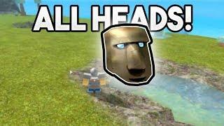 ALL HEAD LOCATIONS   ROBLOX: Booga Booga