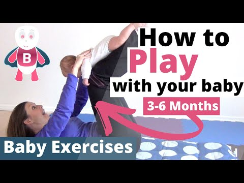 Baby Playtime Exercises #3-6 Months - Flying Baby - Baby Activities, Baby Development, Stimulation